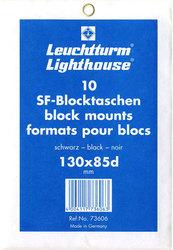 POCHETTES À FOND NOIR POUR BLOCS 130X85D (PAQUET DE 10)