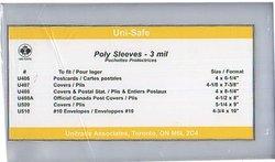 POCHETTES PROTECTRICES -  ENVELOPPES POUR CARTES POSTALES 23 CM X 12.5 CM (PAQUET DE 100)