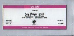 POCHETTES PROTECTRICES -  ENVELOPPES POUR CARTES POSTALES 25.5 CM X 10 CM (PAQUET DE 100)