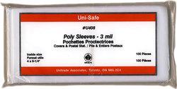 POCHETTES PROTECTRICES -  ENVELOPPES POUR GRANDES CARTES POSTALES, 10.5CM X 20CM (PAQUET DE 100)