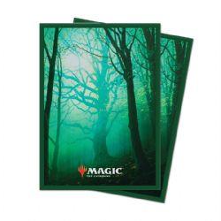 POCHETTES TAILLE STANDARD -  MTG UNSTABLE LANDS - FOREST (100)