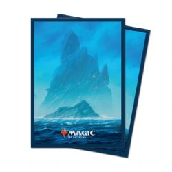 POCHETTES TAILLE STANDARD -  MTG UNSTABLE LANDS - ISLAND (100)