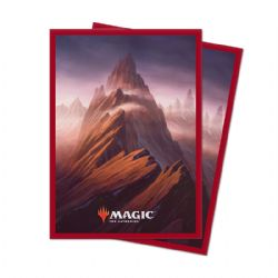 POCHETTES TAILLE STANDARD -  MTG UNSTABLE LANDS - MOUNTAIN (100)