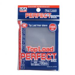 POCHETTES TAILLE STANDARD -  TOPLOAD PERFECT SLEEVE - ÉDITION USA (100)