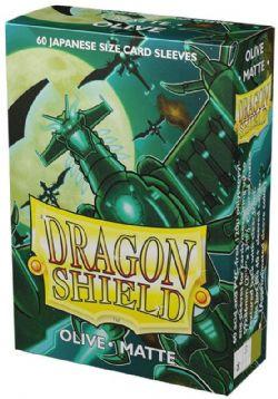 POCHETTES TAILLE YU-GI-OH! -  DRAGON SHIELDS - 60 - OLIVE - MAT