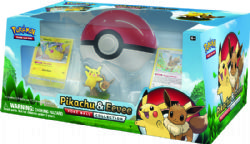 POKÉMON -  PIKACHU AND EEVEE POKÉ BALL COLLECTION (6P10 + 1 POKÉ BALL + 2 FIGURES)