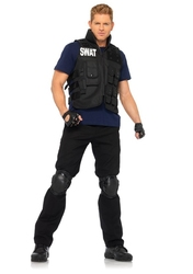 POLICIERS ET BANDITS -  COSTUME DE COMMANDANT DU S.W.A.T. (TAILLE UNIQUE)
