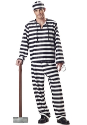 POLICIERS ET BANDITS -  COSTUME DE PRISONNIER (ADULTE)