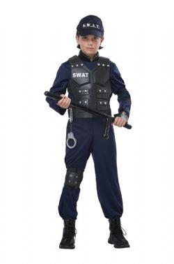POLICIERS ET BANDITS -  COSTUME DE SWAT JUNIOR (ENFANT)