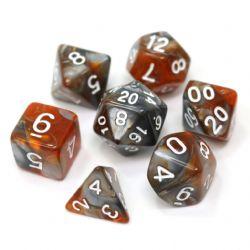 POLY RPG DICE SET -  AMBER SHARD -  DIE HARD