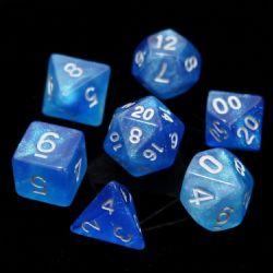 POLY RPG DICE SET -  MERMAIDS TEAR -  DIE HARD