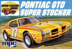 PONTIAC -  MPC 1970 PONTIAC GTO SUPER STOCKER 1:25 SCALE MODEL KIT - JAUNE