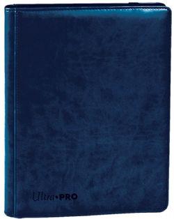 PORTFOLIO 4 POCHETTES -  PRO-BINDER - 160 - SUÈDE SAPHIR - AVEC FERMETURE ÉCLAIR