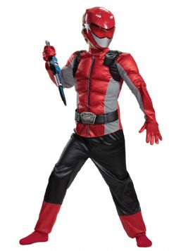 POWER RANGERS -  COSTUME POWER RANGER ROUGE (ENFANT) -  BEAST MORPHERS