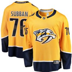 PRÉDATEURS DE NASHVILLE -  P.K. SUBBAN #76 - CHANDAIL RÉPLIQUE ORANGE