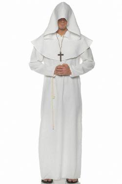 PRÊTRES ET RELIGIEUSES -  COSTUME DE MOINE - BLANC (ADULTE)