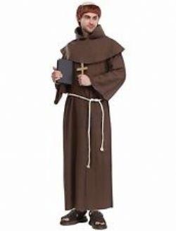 PRÊTRES ET RELIGIEUSES -  COSTUME DE MOINE - BRUN (ADULTE - STANDARD 40-44)