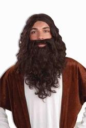 PRÊTRES ET RELIGIEUSES -  PERRUQUE ET BARBE DE JESUS - BRUNE