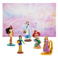 PRINCESSES, LES -  ENSEMBLE DE 5 FIGURINES EN PLASTIQUE (9 CM) -  PRINCESSES DISNEY 02