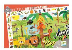 PUZZLE OBSERVATION -  JUNGLE (35 PIÈCES) - 3 ANS+