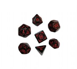 Q WORKSHOP -  DRAGONS OF THE RED MOON DICE SET (7)