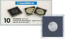 QUADRUM -  CAPSULES CARRÉES POUR PIÈCES DE 21 MM (PAQUET DE 10)