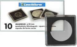 QUADRUM -  CAPSULES CARRÉES POUR PIÈCES DE 35 MM (PAQUET DE 10)
