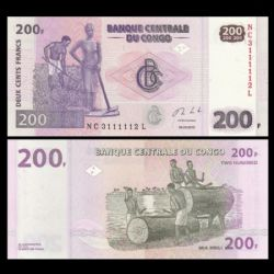 RÉPUBLIQUE DÉMOCRATIQUE DU CONGO -  200 FRANCS 2013 (UNC)