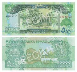 RÉPUBLIQUE DU SOMALILAND -  5000 SHILLINGS 2011 (UNC)