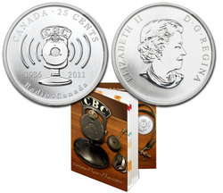RADIO-CANADA -  75EME ANNIVERSAIRE DE CBC/RADIO-CANADA -  PIÈCES DU CANADA 2011