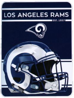 RAMS DE LOS ANGELES -  JETÉE ULTRA DOUCE (117 CM X 152 CM)