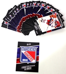 RANGERS DE KITCHENER -  (26 CARTES) -  2016-17