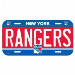 RANGERS DE NEW YORK -  PLAQUE D'IMMATRICULATION