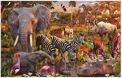 RAVENSBURGER -  ANIMAUX DU CONTINENT AFRICAIN (3000 PIÈCES)