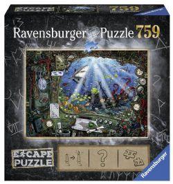RAVENSBURGER -  DANS LE SOUS-MARIN (759 PIECES) -  ESCAPE PUZZLE