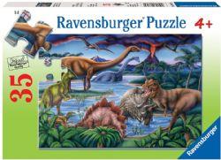 RAVENSBURGER -  JARDIN DE DINOSAURES (35 PIECES) - 4+
