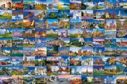 RAVENSBURGER -  LES 99 PLUS BEAUX ENDROITS D'EUROPE (3000 PIÈCES)