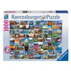 RAVENSBURGER -  LES 99 PLUS BEAUX ENDROITS DU MONDE (1000 PIÈCES)