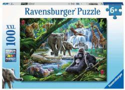 RAVENSBURGER -  LES ANIMEAUX DE LA JUNGLE (100 PIÈCES XXL) - 6 ANS+