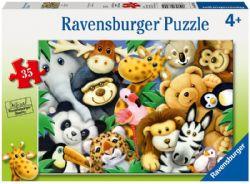RAVENSBURGER -  LES PELUCHES (35 PIECES) - 4+