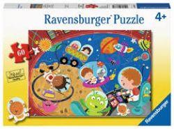 RAVENSBURGER -  S'AMUSER DANS L'ESPACE (60 PIÈCES) - 4 ANS+