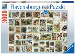 RAVENSBURGER -  TIMBRES ANIMALIERS (3000 PIÈCES)
