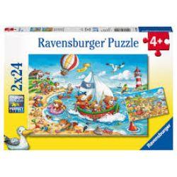 RAVENSBURGER -  VACANCES À LA MER (2 X 24 PIECES) - 4+