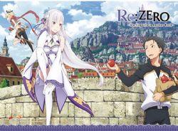 RE:ZERO -  -NATSUKI, EMILIA & FELT- (83.8CM X 111.7CM) -  RE: STARTING LIFE IN ANOTHER WOLD