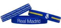 REAL MADRID -  ENSEMBLE DE 3 BRACELETS EN CAOUTCHOUC - BLEU