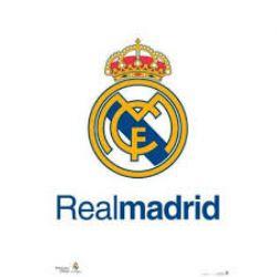 REAL MADRID FC -  AFFICHE LOGO D'ÉQUIPE (56 CM X 86.5 CM)