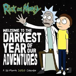 RICK AND MORTY -  CALENDRIER MURAL 2020 (16 MOIS)