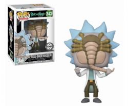 RICK ET MORTY -  FIGURINE POP! EN VINYLE DE RICK (FACEHUGGER) (10 CM) 343