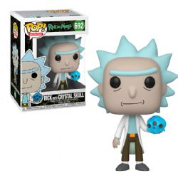 RICK ET MORTY -  FIGURINE POP! EN VINYLE DE RICK WITH CRYSTAL SKULL (10 CM) 692