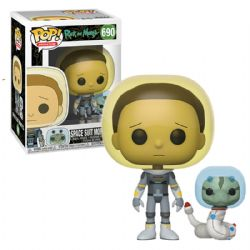RICK ET MORTY -  FIGURINE POP! EN VINYLE DE SPACE SUIT MORTY WITH SNAKE (10 CM) 690